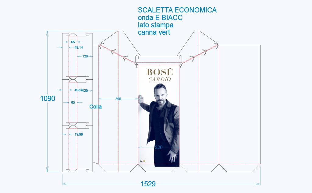Miguel Bosè – espositore verticale con scaletta