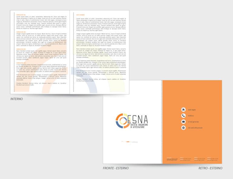 ESNA – proposta grafica brochure a 2 ante