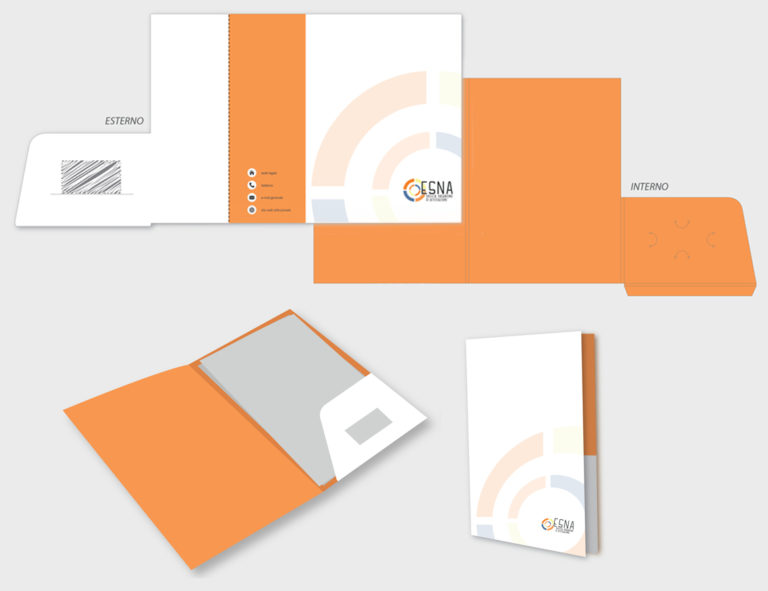 ESNA – proposta grafica cartella portadocumenti