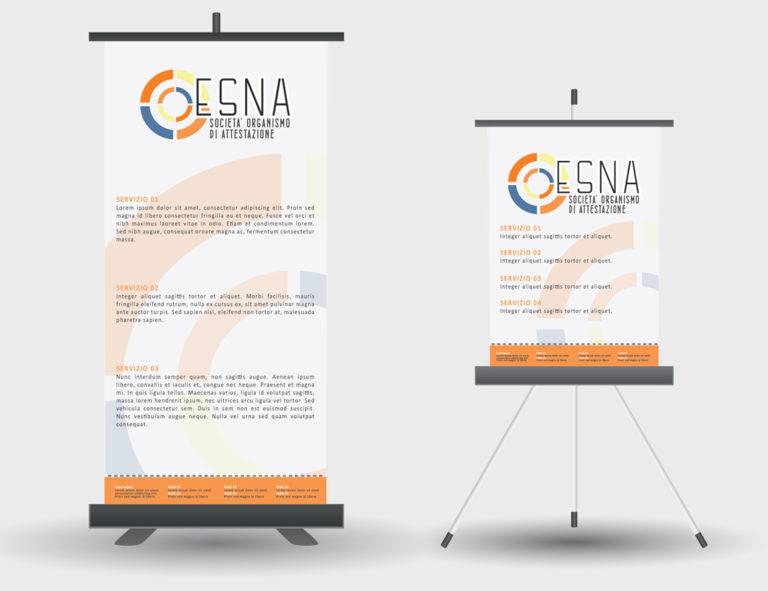 ESNA – proposta grafica rollbanner