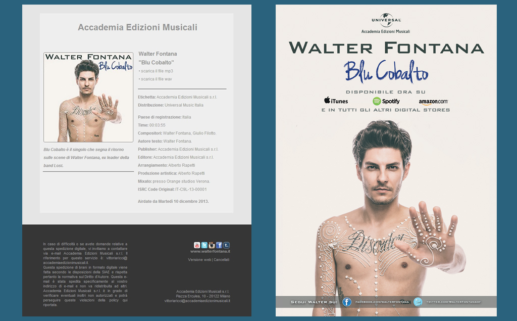 Walter Fontana – digital delivery e flyer