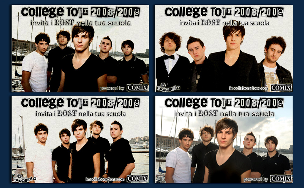 "Lost – ""College Tour 2008/2009"", banner"