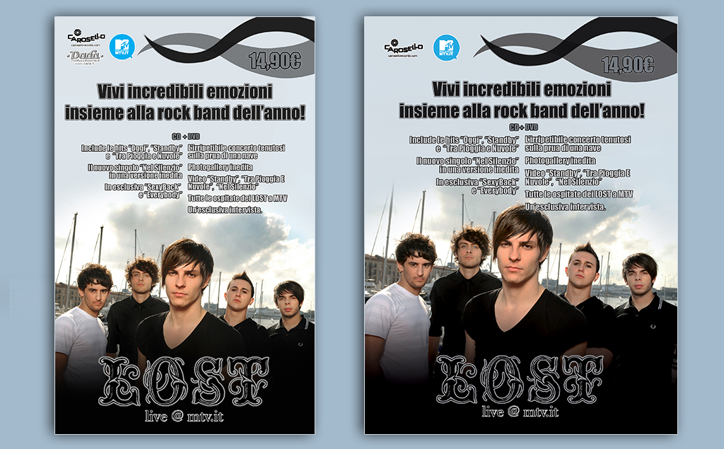 Lost Live @ MTV.it – pagine pubblicitarie