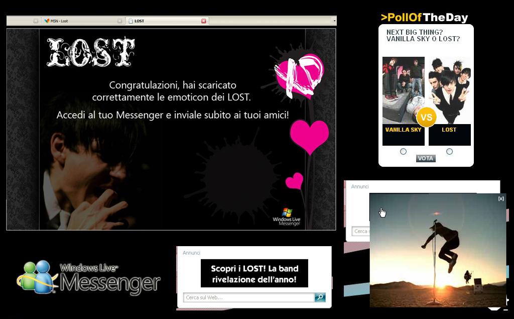 Lost, MSN Live Messenger