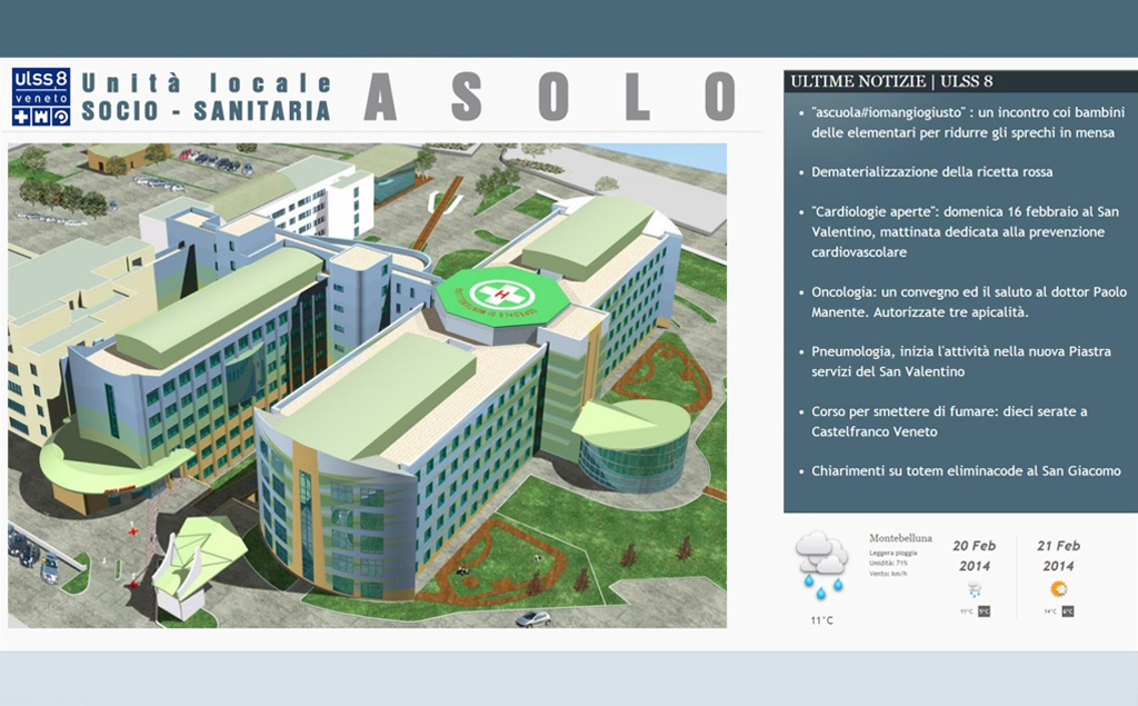 ULSS 8 Asolo – Pannello Informativo