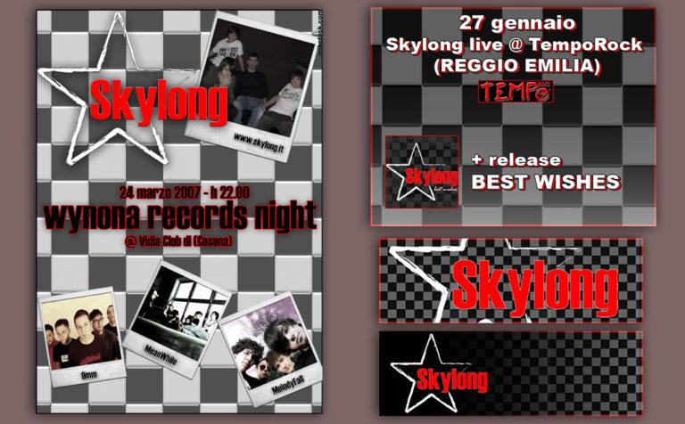 Skylong – flyers e stickers