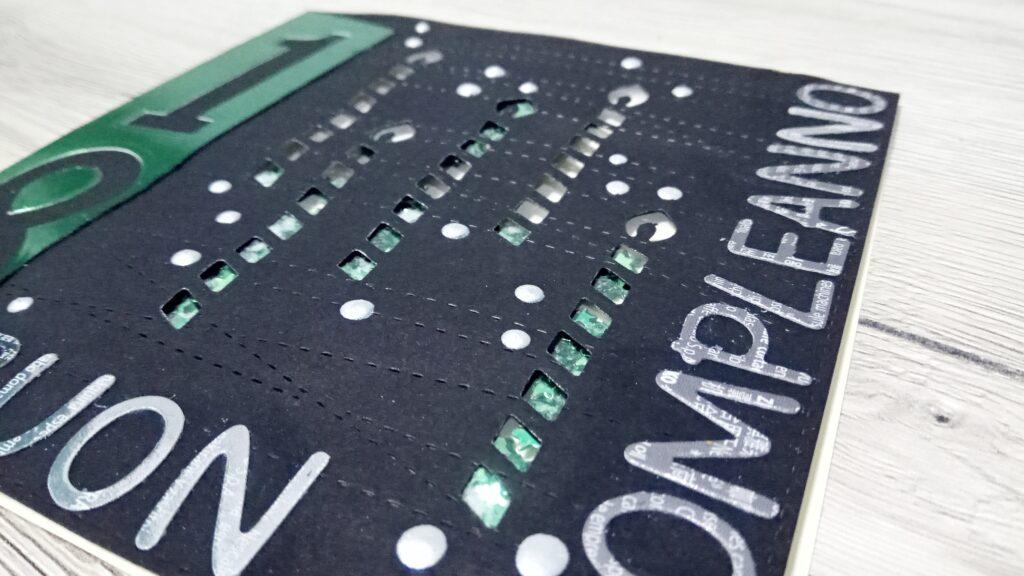 Shaker card verde metallizzata per 18esimo compleanno