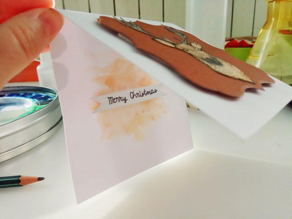 Mini-Card natalizia con renna