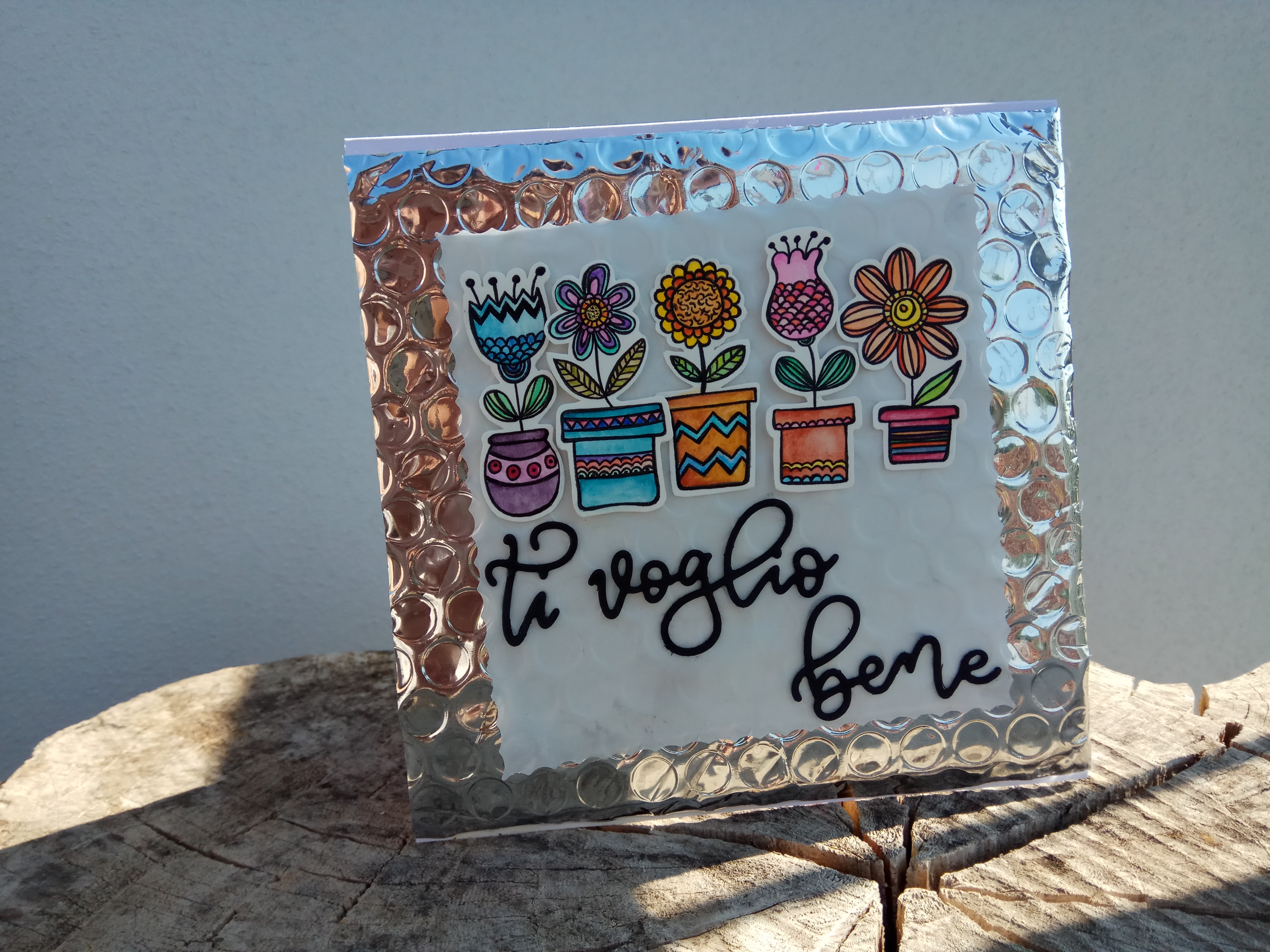 """Card multiuso floreale """"Ti Voglio Bene"""""""