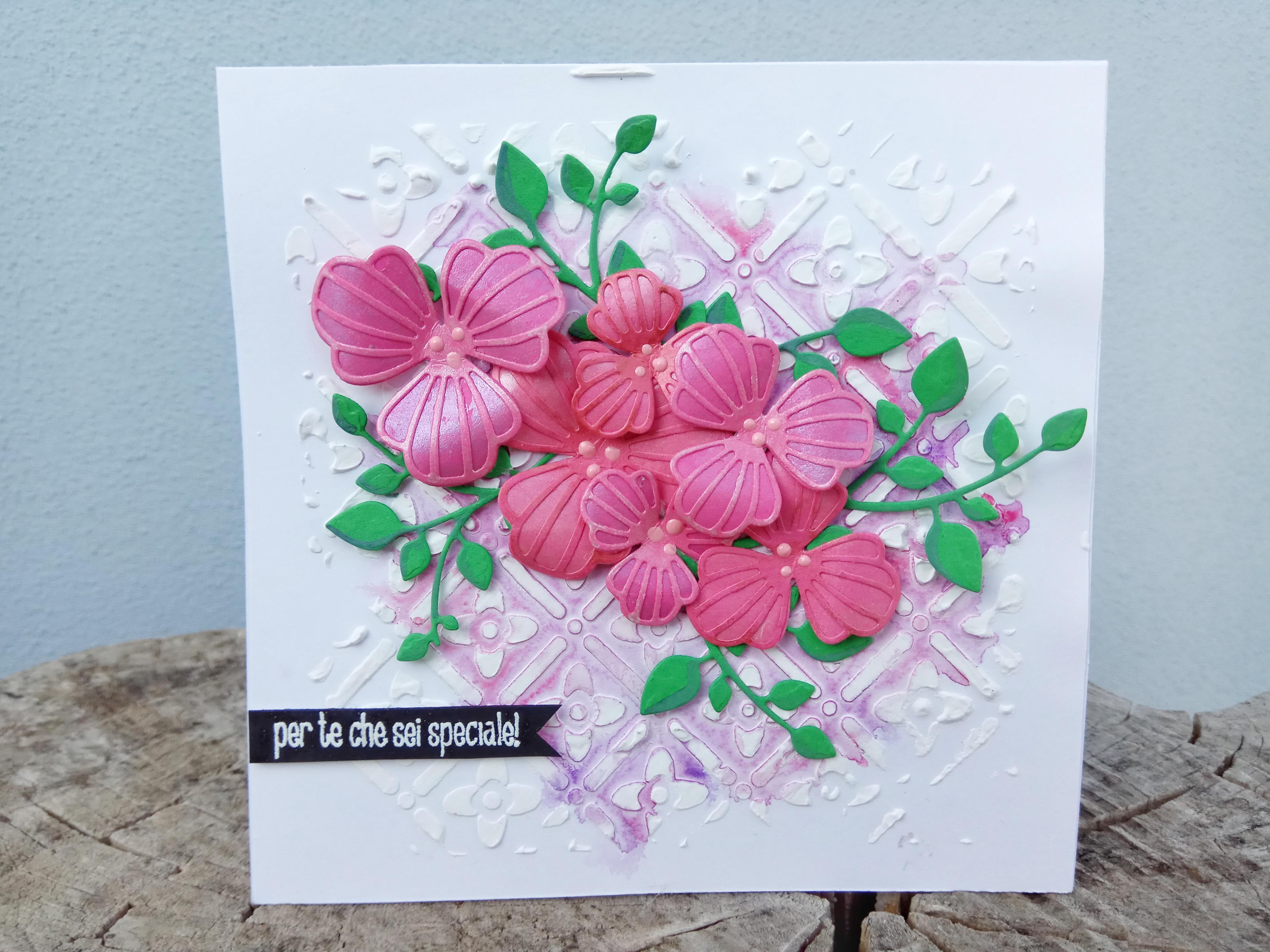 """Card multiuso floreale """"per te che sei speciale"""""""