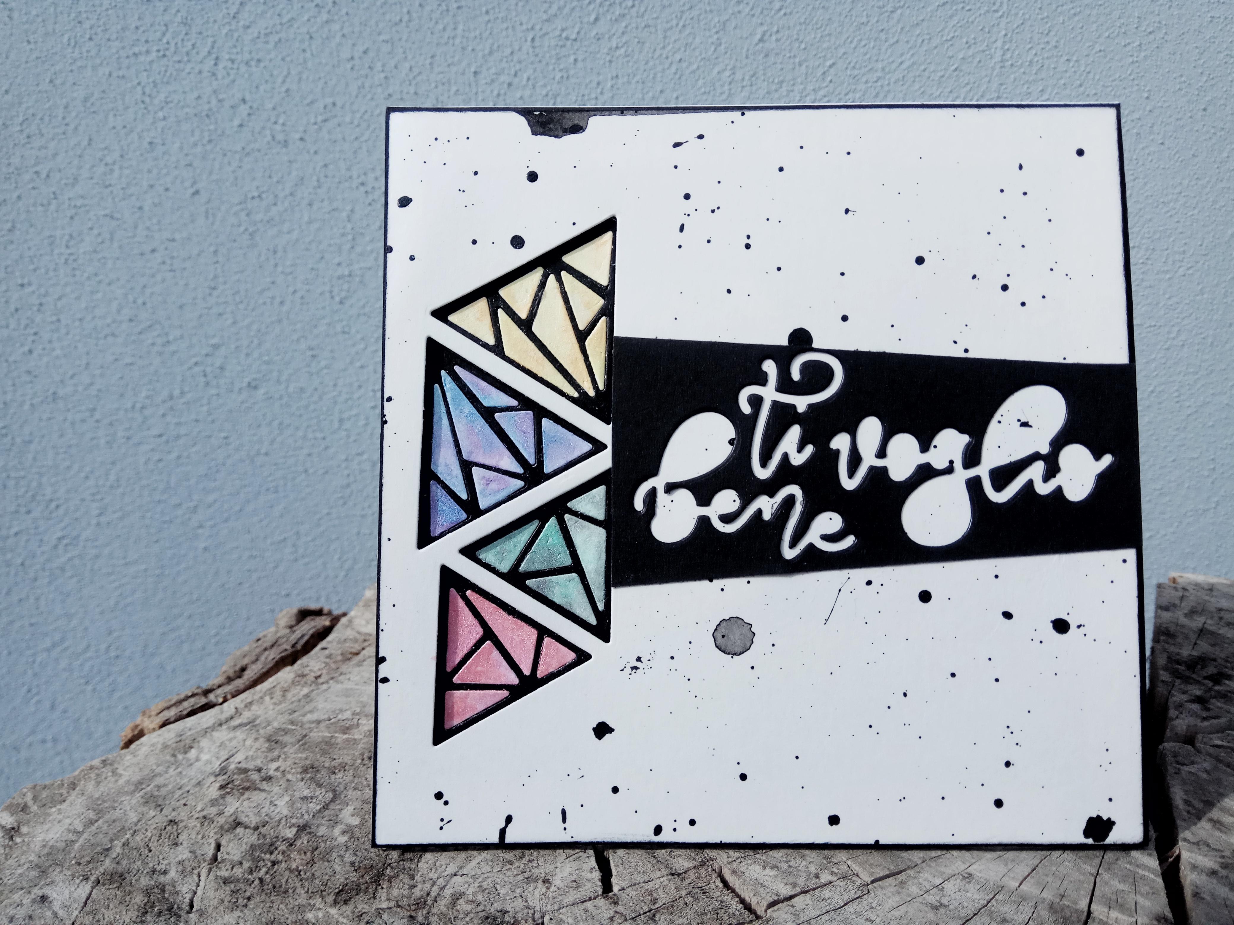 """Card multiuso geometrica """"Ti Voglio Bene"""""""
