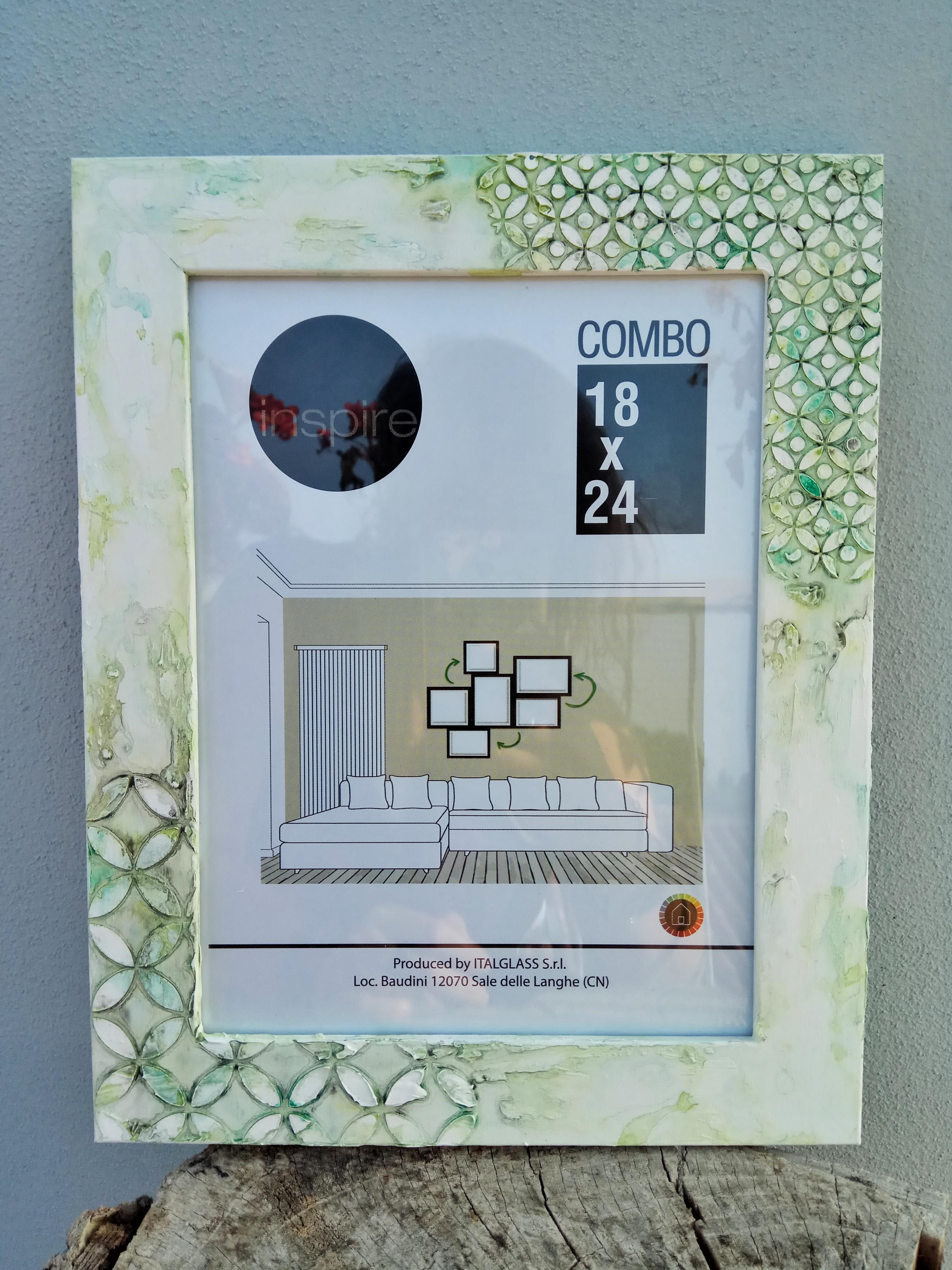 Cornice portafoto 18×24, tonalità sulle sfumature del verde