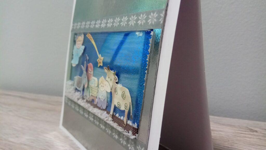 Shaker Card natalizia con natività