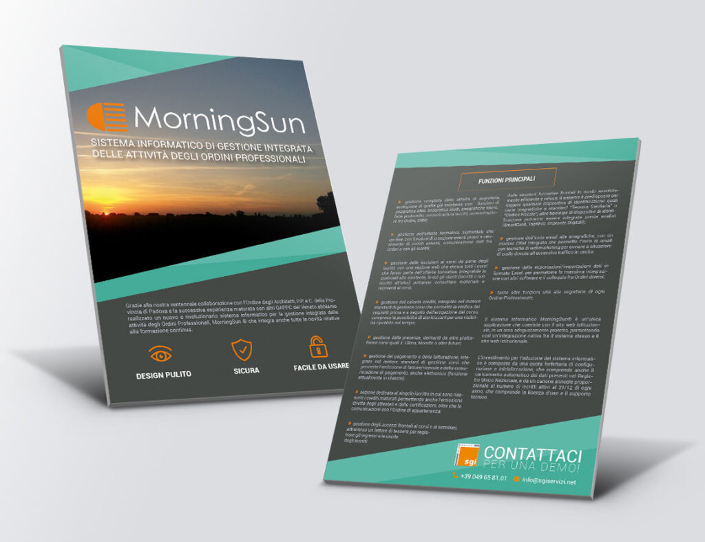 Morning Sun – flyer 2018