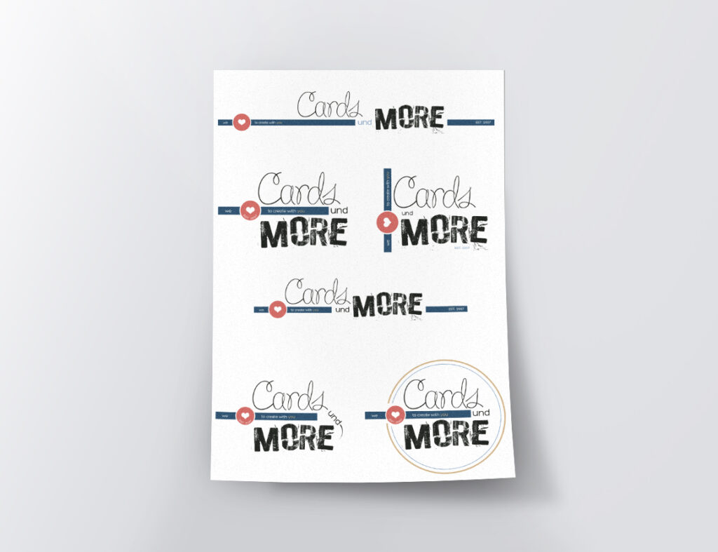 Cards Und More – restyling logo