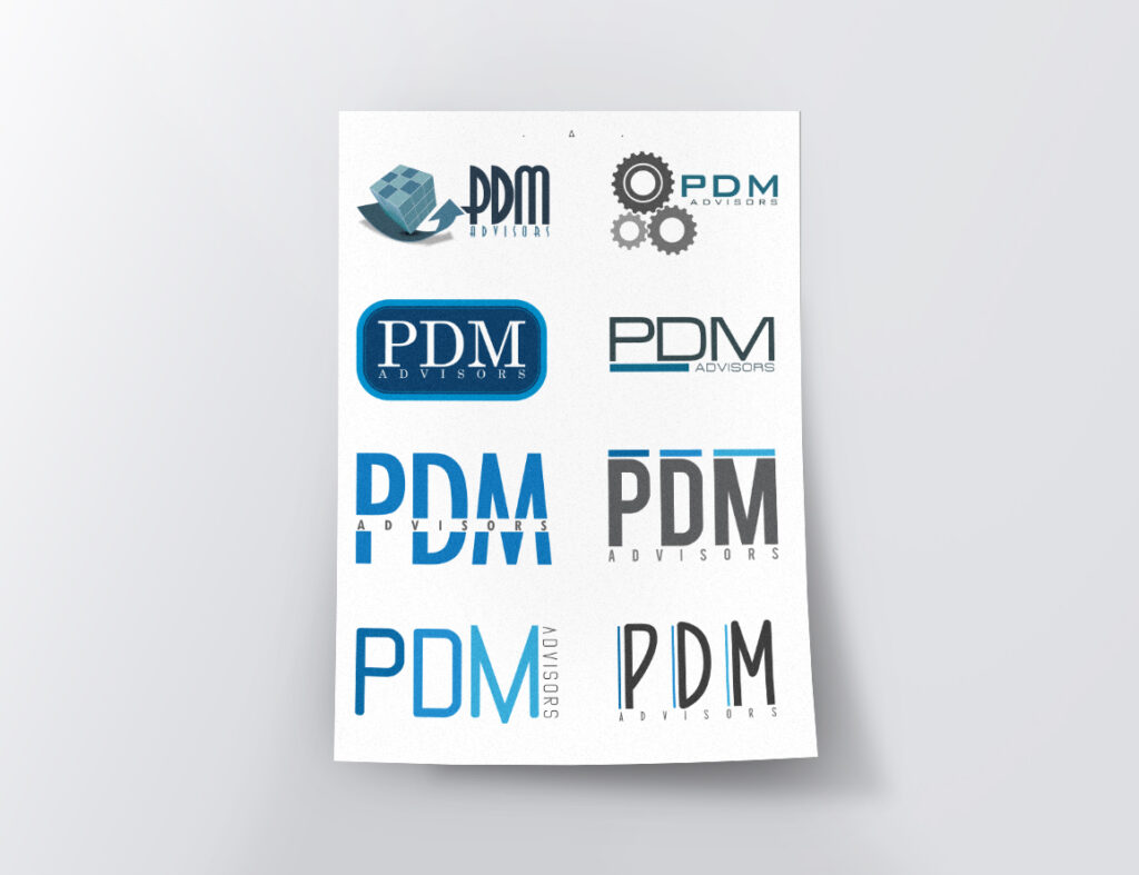 PDM Advisors – proposte loghi