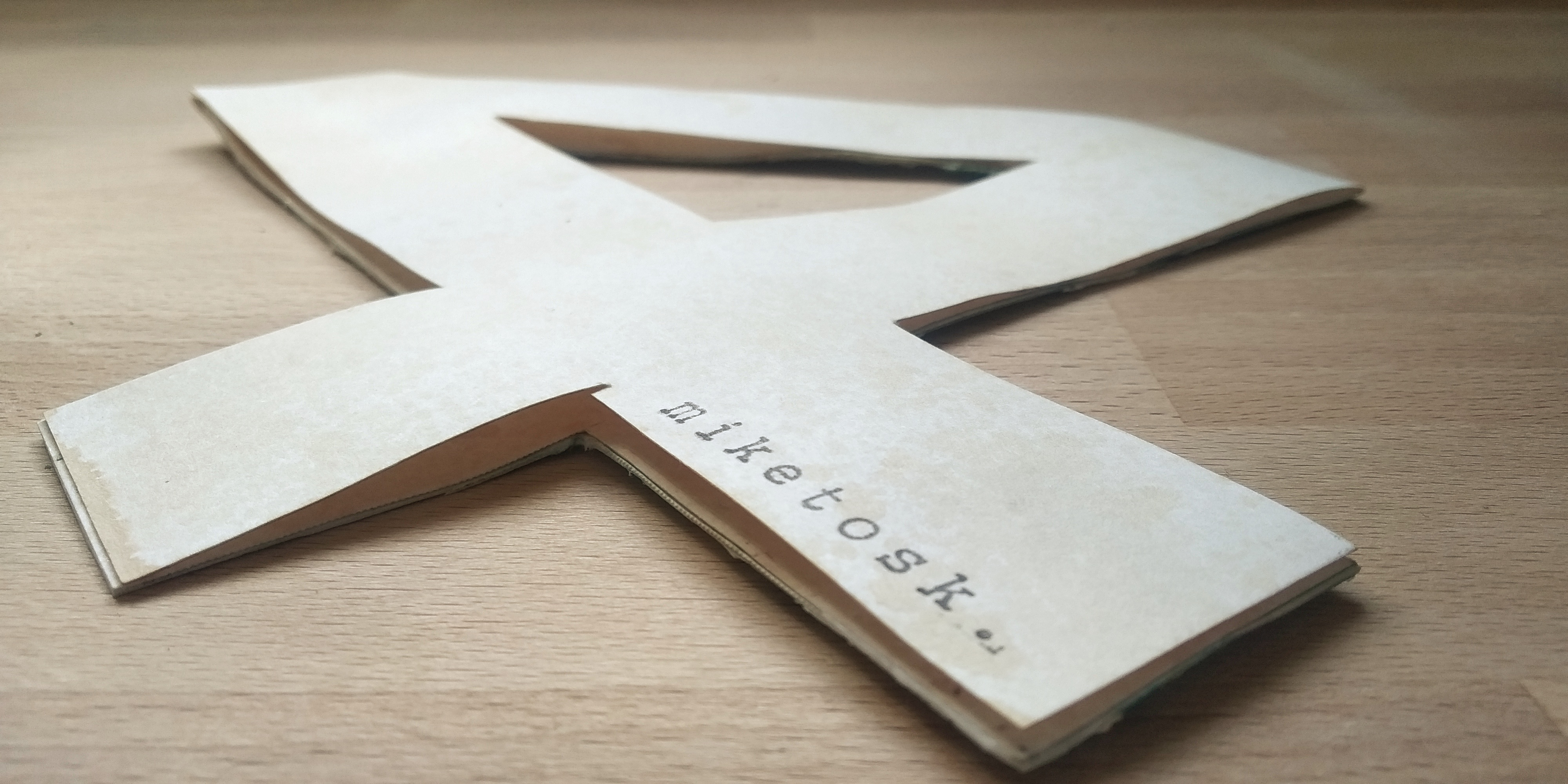 Shaped card lettere & numeri