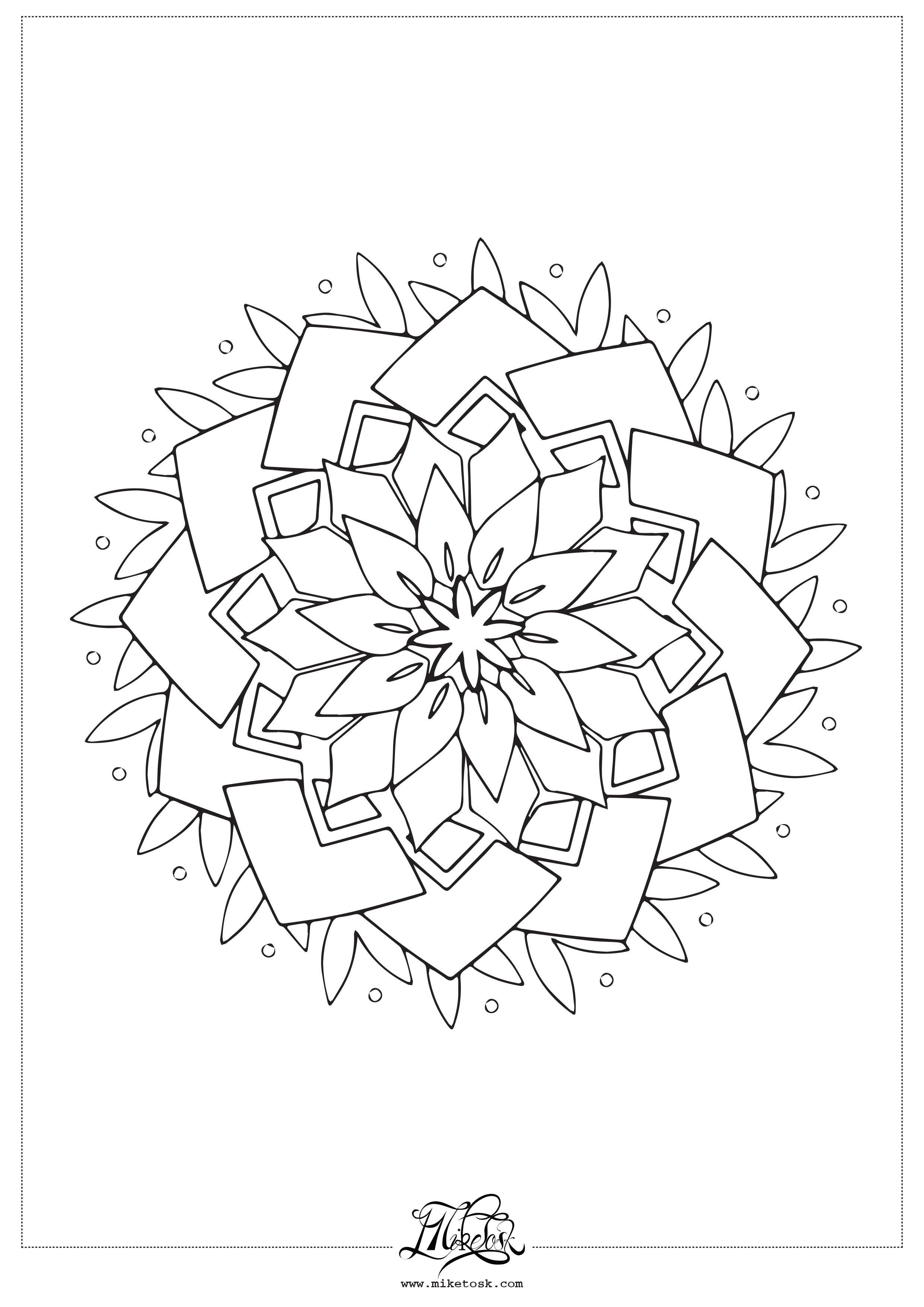 floral #01 – mandala da colorare.
