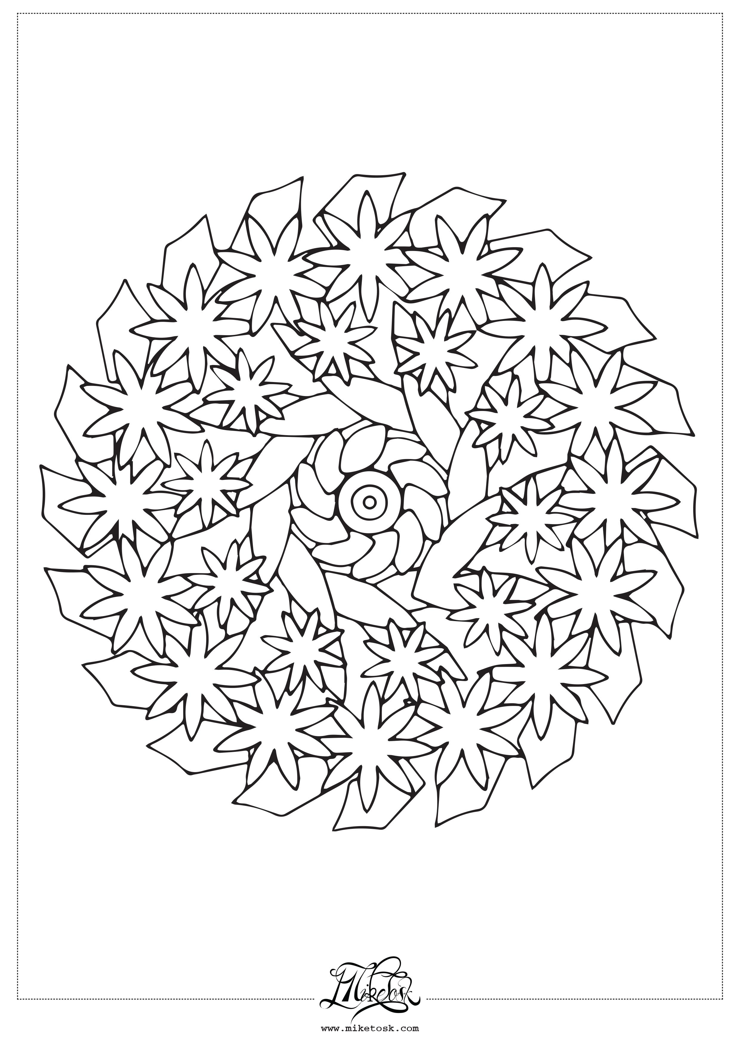 floral 01#04 – mandala da colorare. (Copia)