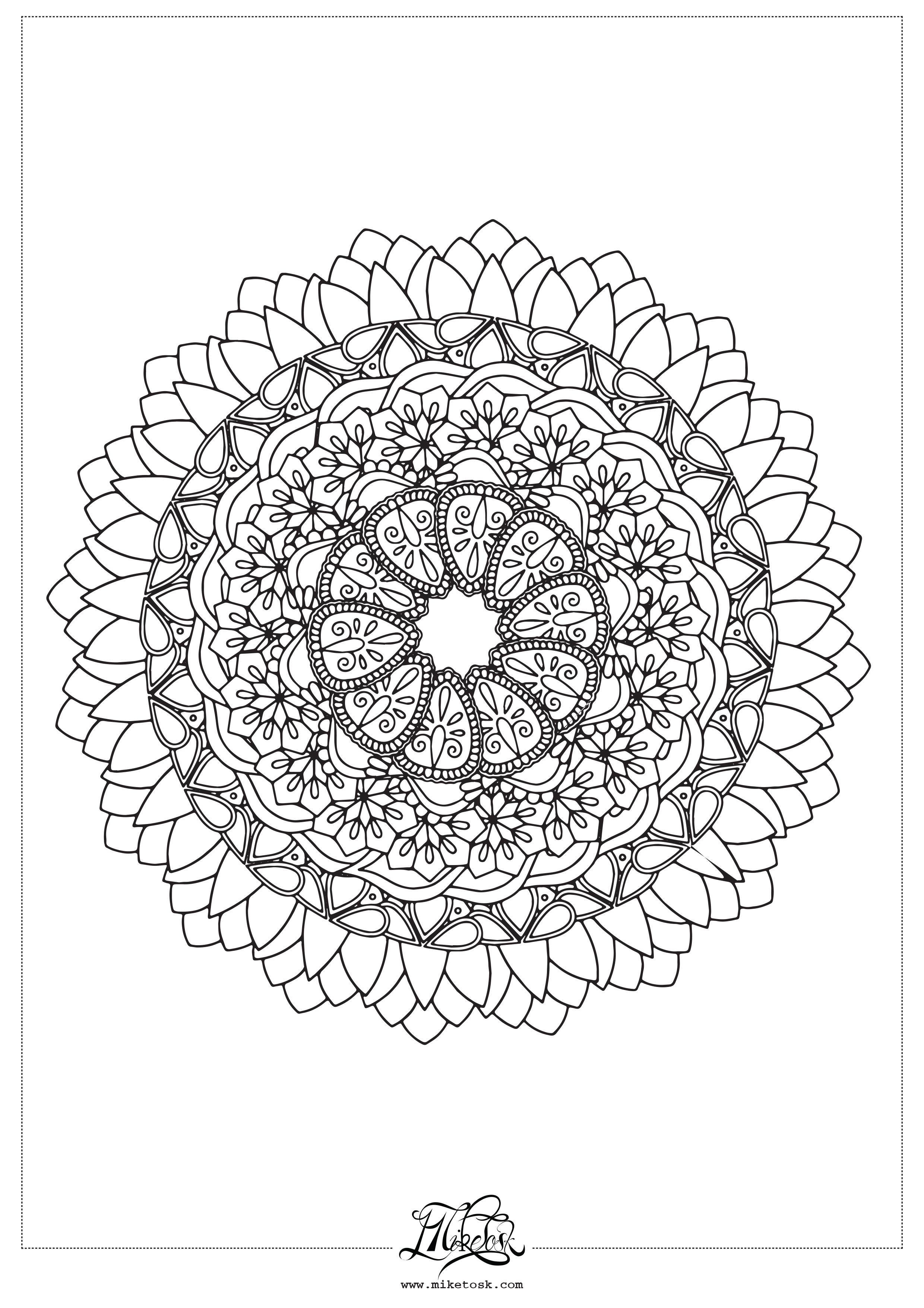 floral 01#05 – mandala da colorare.