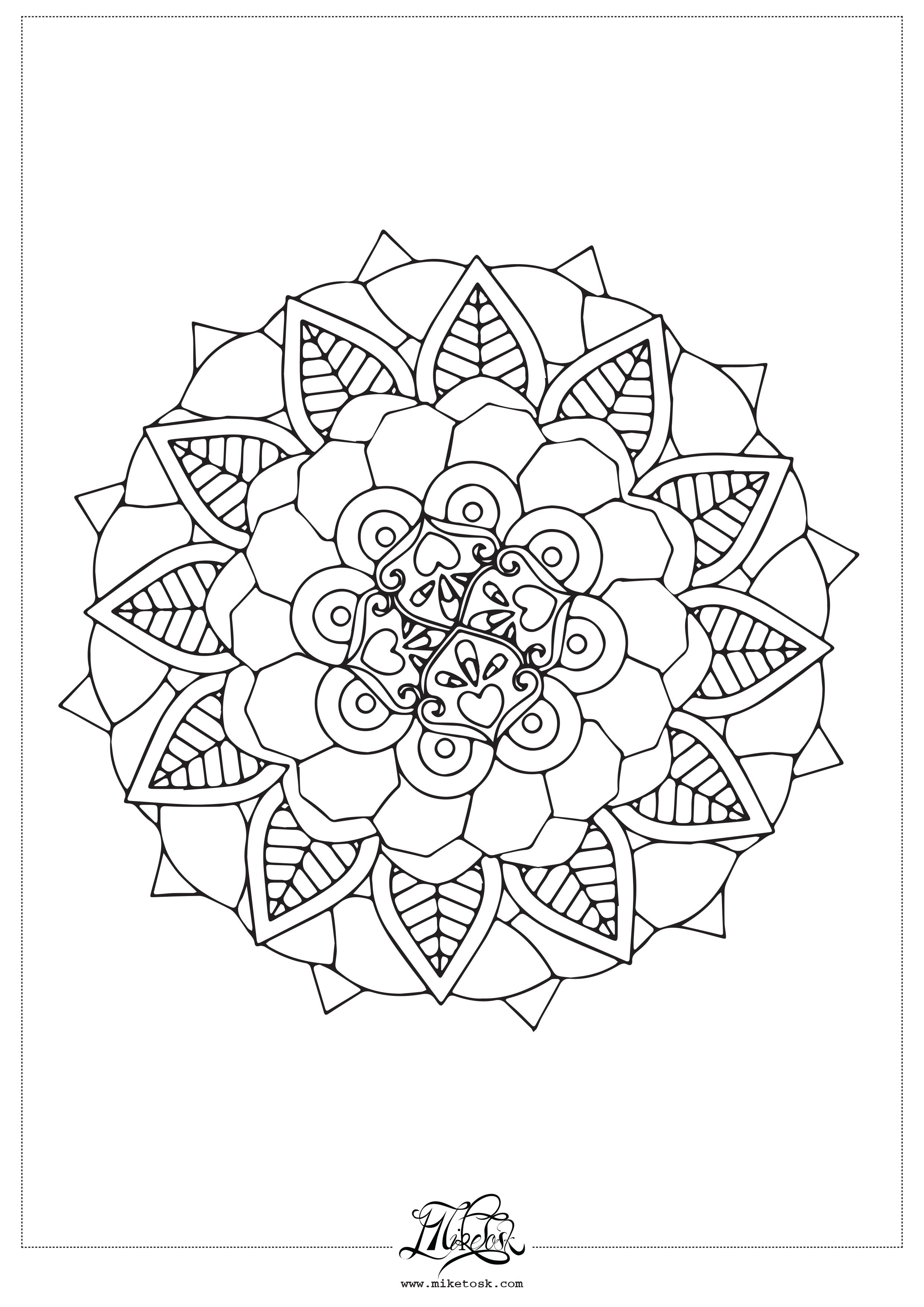 floral 01#05 – mandala da colorare. (Copia)