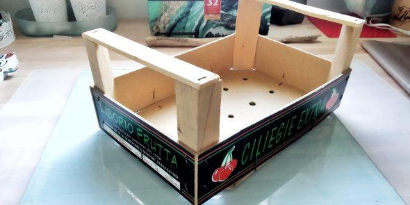 Riciclo cassettine di legno.