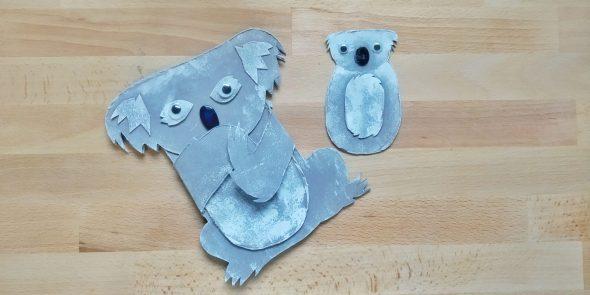 Shaped card Koala
