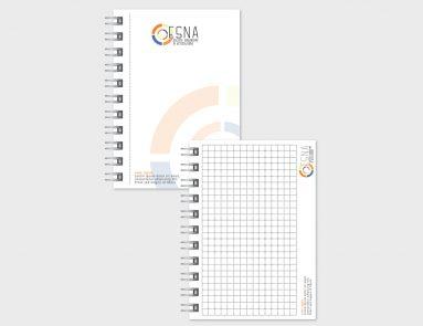 ESNA – proposta grafica blocchi notes