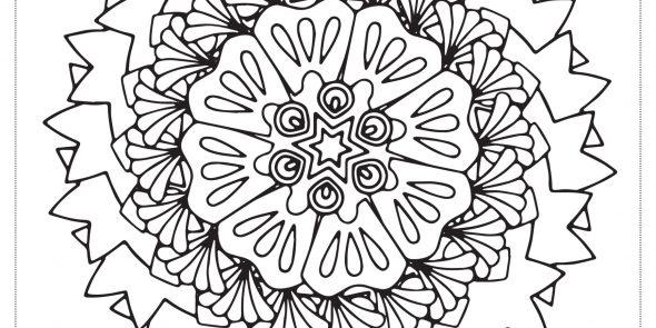 floral 01#01 – mandala da colorare. (Copia)