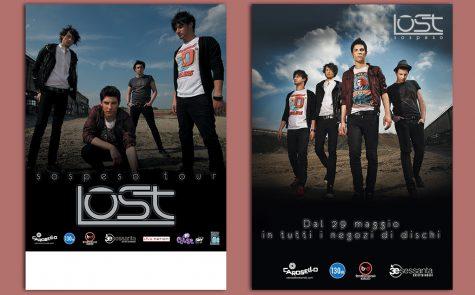 """Lost – """"Sospeso"""", cartonato e locandina"""