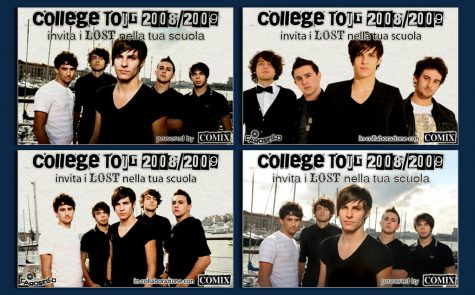 """Lost – """"College Tour 2008/2009"""", banner"""